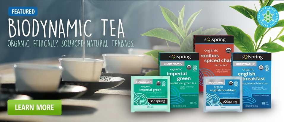 Biodynamic teabags