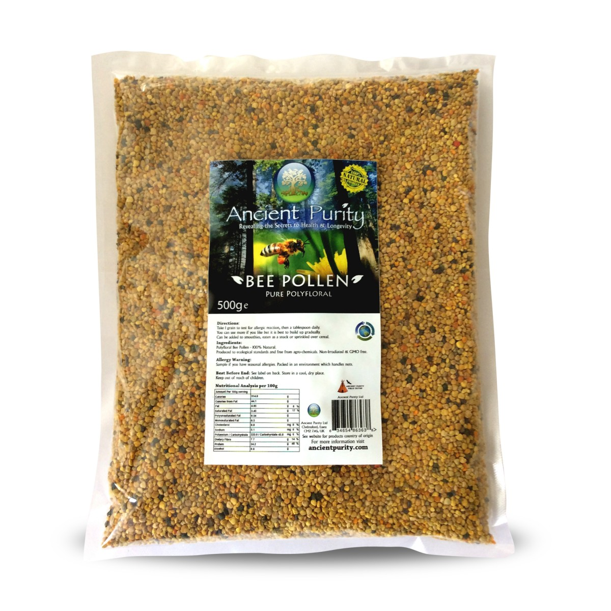 Bee Pollen 500g Polyfloral Raw Ancient Purity