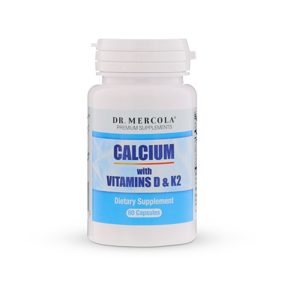 Calcium With Vitamins D Amp K2 60 Capsules Dr Mercola