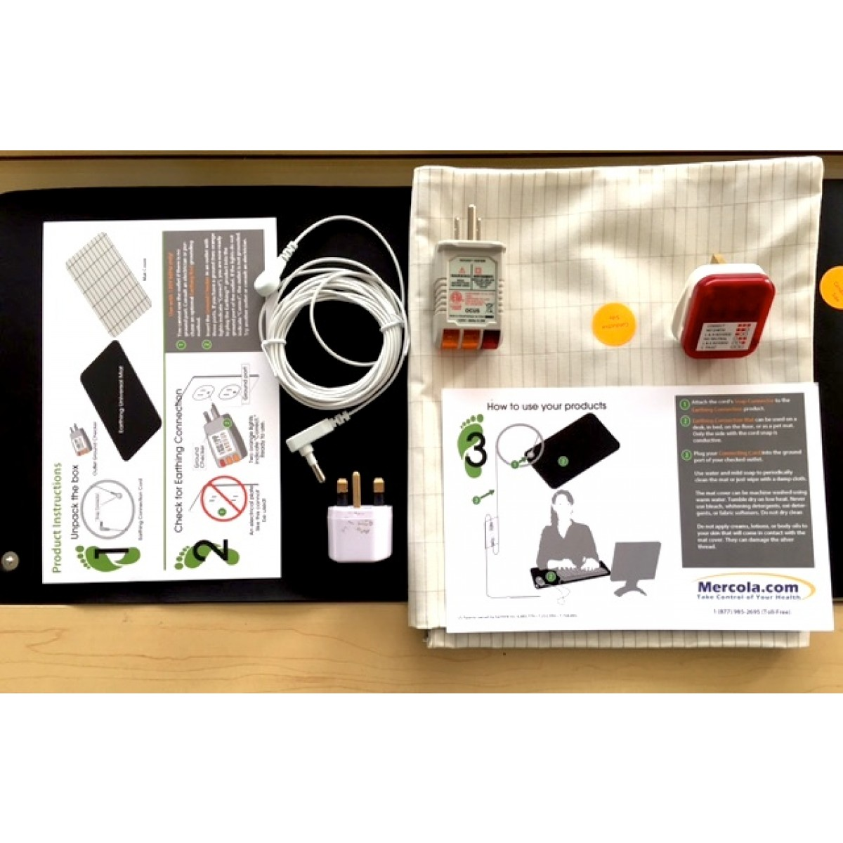 Earthing Universal Mat Dr Mercola With Uk Adaptor Amp Tester