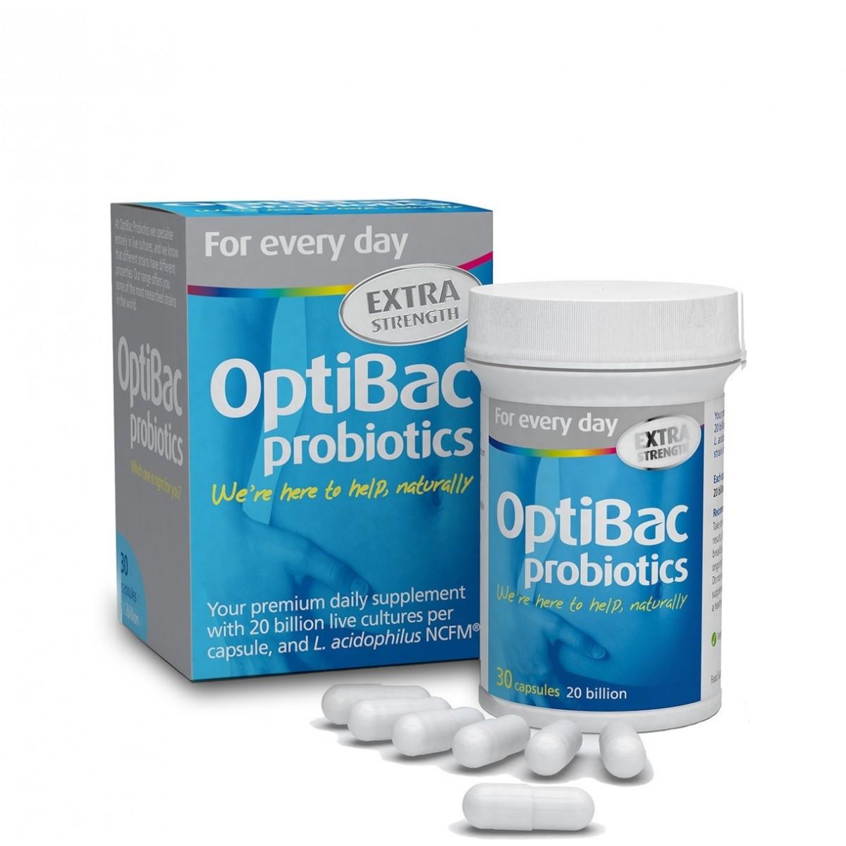 Extra Strength Probiotic - 30 Capsules (Optibac)