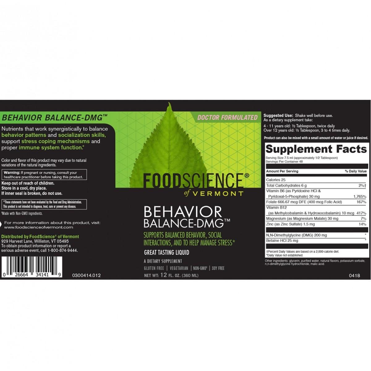 Behaviour/Behavior Balance liquid DMG - Da Vinci / Food