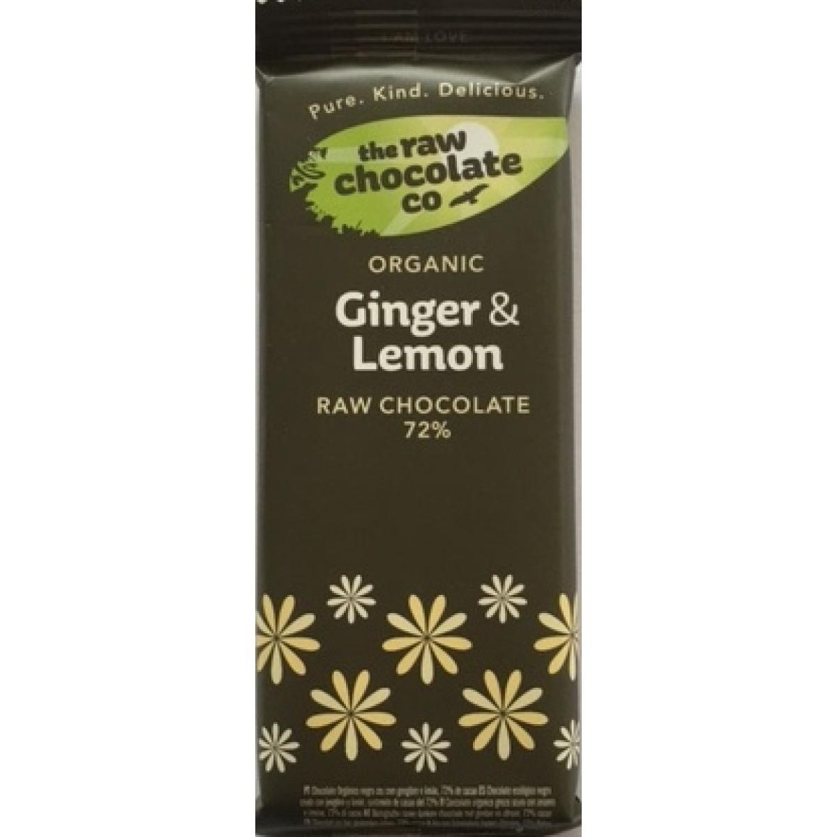 Home / Ginger & Lemon Raw Chocolate 72% Bar - 44g (Organic)