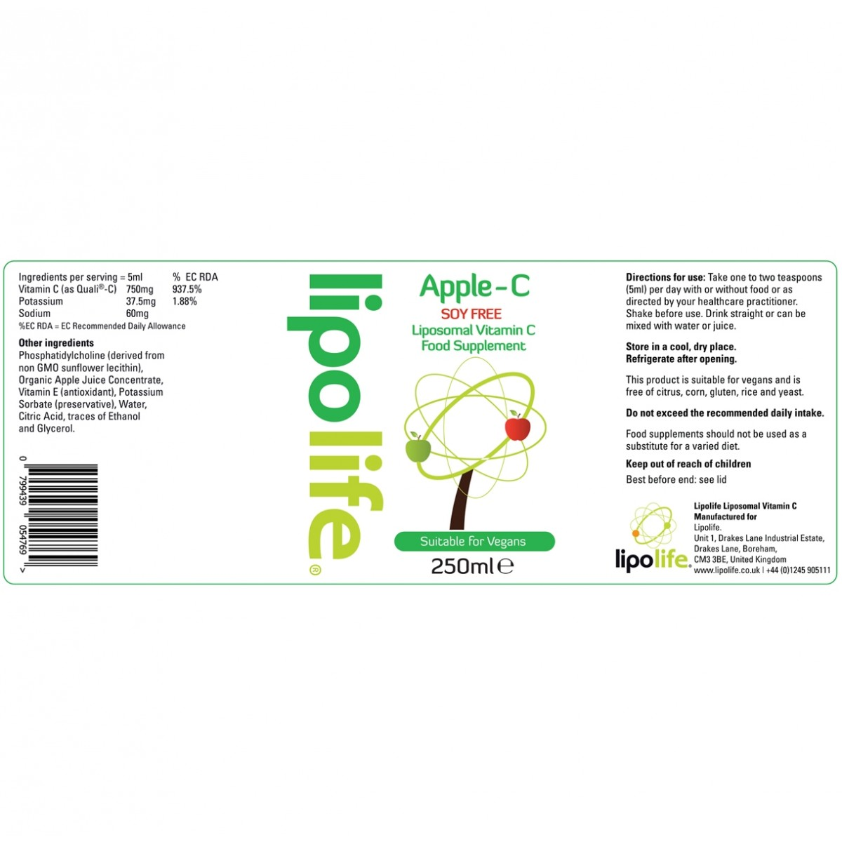 Substitute for apple juice concentrate