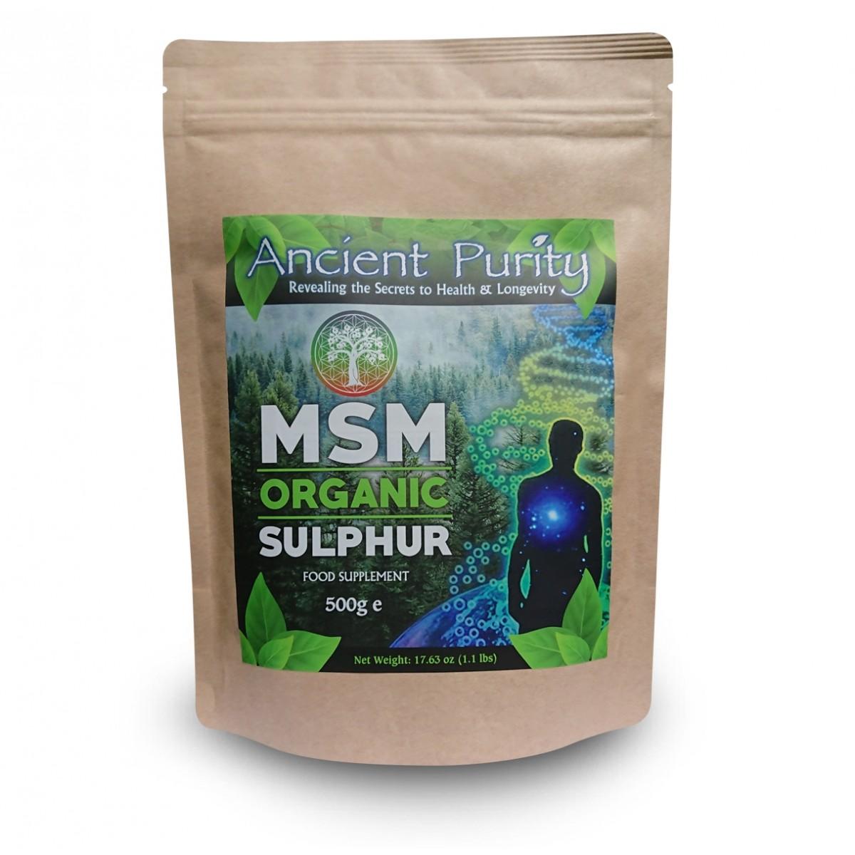 MSM Sulphur – Pure Organic Sulfur Supplement | Ancient Purity