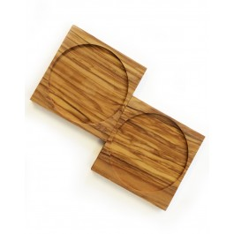 Coasters Olive Wood x 2 Natures Design