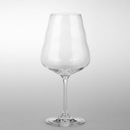 Wine Glass - White (mouth blown)