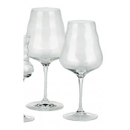 Wine Glass - White / Red (mouth blown) Flower of Life