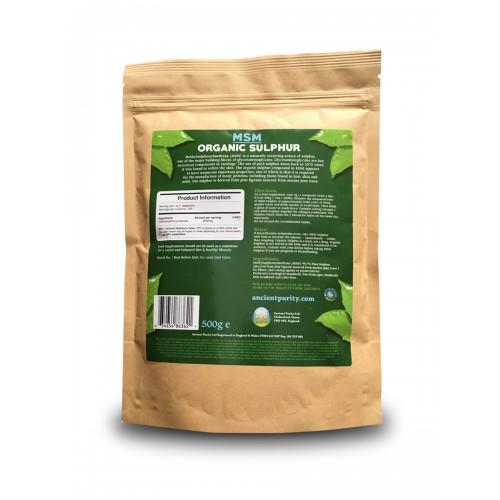 Msm Sulphur Pure Organic Sulfur Supplement Ancient Purity