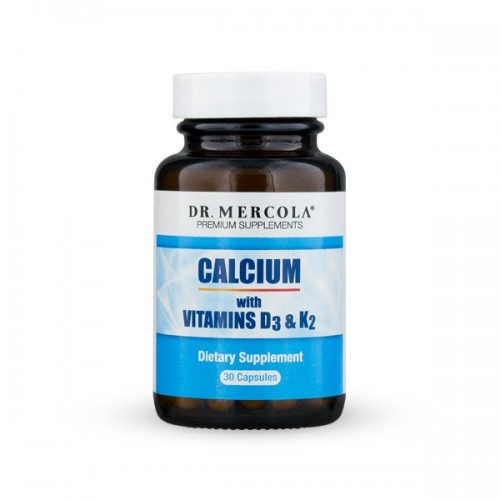 Calcium with Vitamins D & K2 - 30 Capsules (Dr Mercola)