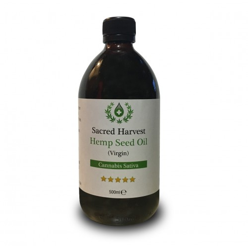 Hemp Seed Oil - Virgin (Sacred Harvest) 500ml