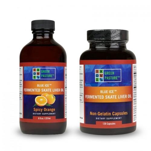 Skate Liver Oil (Fermented) DHA/Vits K,D,A - Capsules/Oil