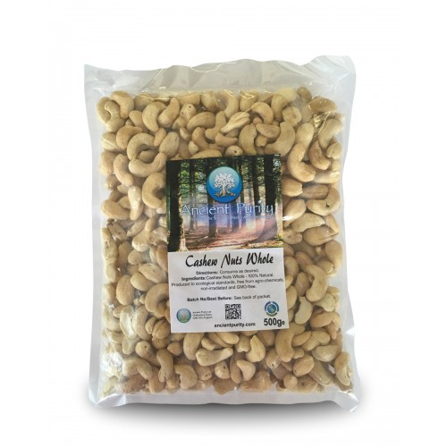 Cashew Nuts Whole - 500g