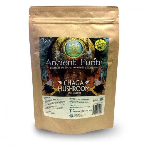 Chaga Mushroom - 150g (Raw-Wild Crafted)