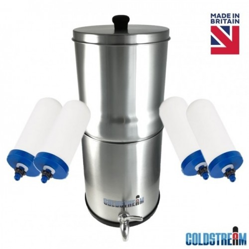 Coldstream Sentry Gravity Water Filter System + 4 Filters