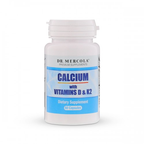 Calcium with Vitamins D & K2 - 60 Capsules (Dr Mercola)
