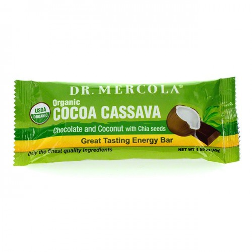 Cocoa Cassava Bar/Box Organic 44g (Dr Mercola)