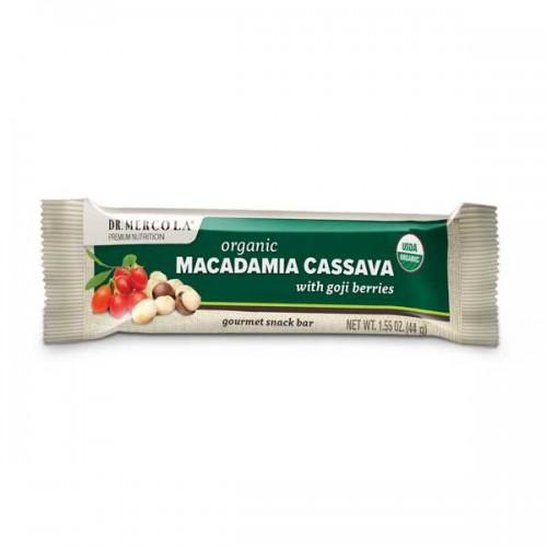 Macadamia / Goji Cassava Bar/Box Organic 44g (Dr Mercola)