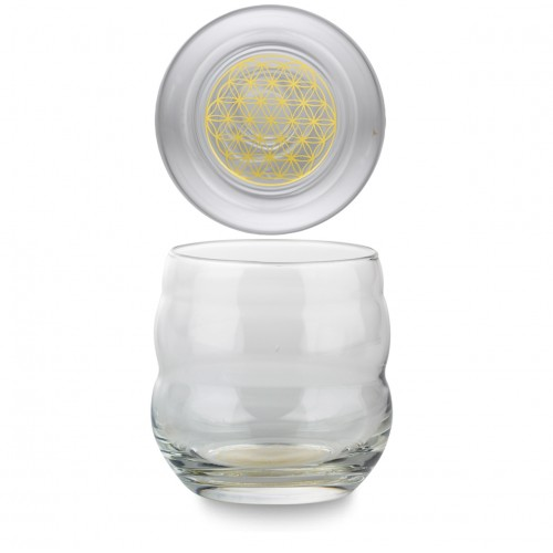 Energy Glass (Flower of Life) Mythos Gold