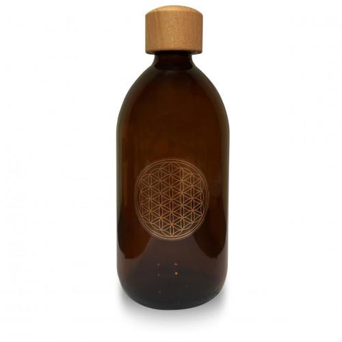Eco Bottle - Flower Of Life (Sticker) Economy (500ml)