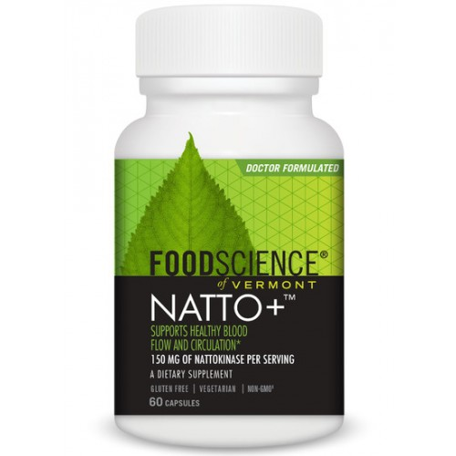 Natto+ (Nattokinase) 60 Caps 150mg - FoodScience