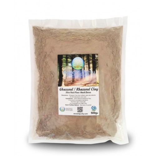 Ghassoul Clay (Skin/Hair/Face Mask/Detox) 500g