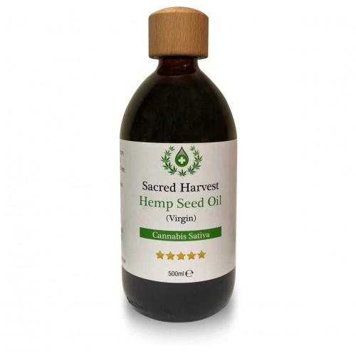 Hemp Seed Oil - Virgin (Sacred Harvest) 500ml