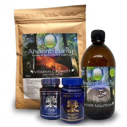 Immunity Pack (Vit C / D3 / Silver / Zinc) SAVE