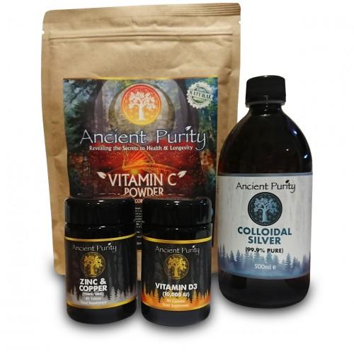 Immunity Pack (Vit C / D3 / Silver / Zinc)