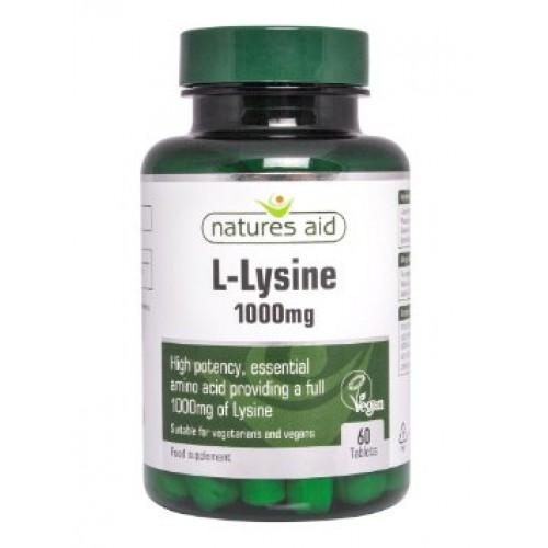 L-lysine - 1000mg (60 Tablets) Essential amino acid