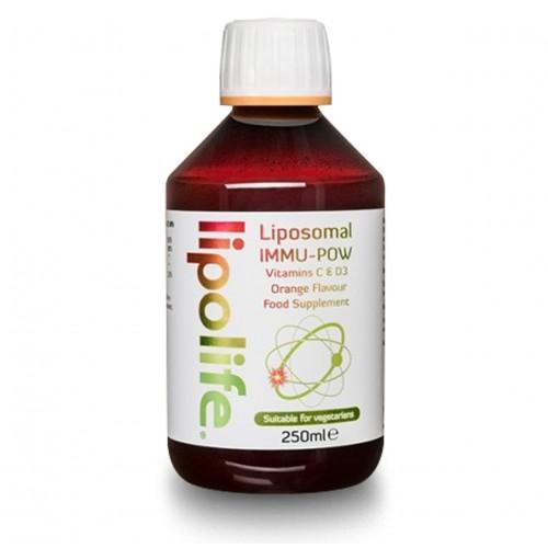 Immu-Pow Liposomal C & D3 (Orange Flavour) 250ml