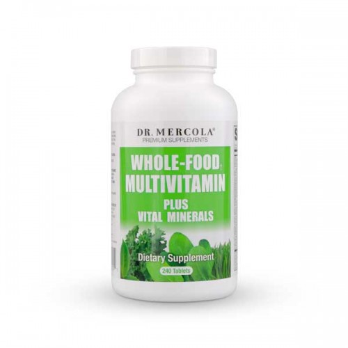 Mercola Whole-Food Multi Vitamin + Minerals 240 Tablets