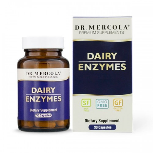 Dairy Enzymes (Dr Mercola) 30 Capsules