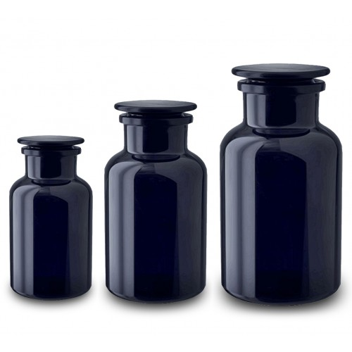 Apothecary Jar (Miron Glass) Sizes 50ml /250ml /500ml /1L /2L