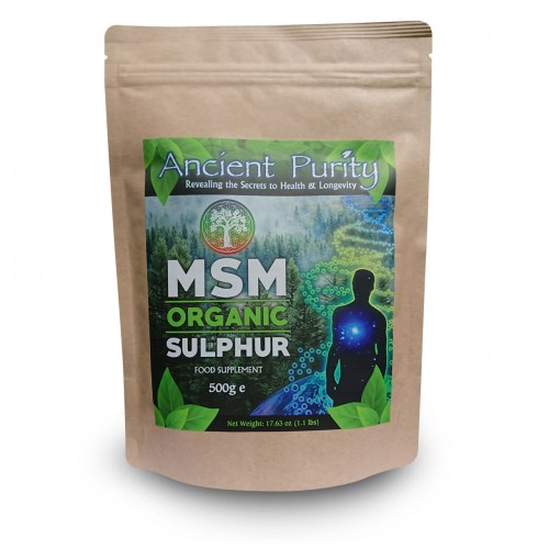 MSM Organic Sulphur (Sulfur Study Supplied) 250/500g