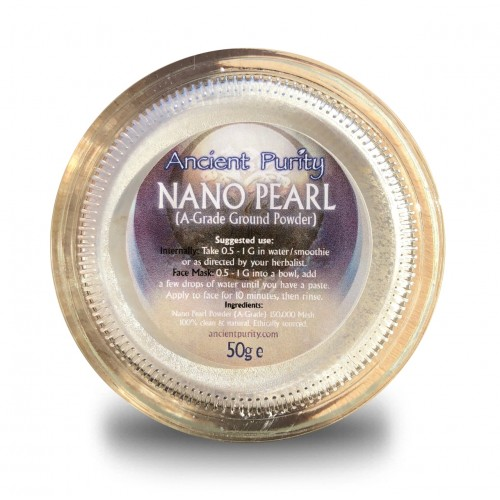 Pearl Powder (Nano) A Grade (Beauty) Calcium/Zinc 50g
