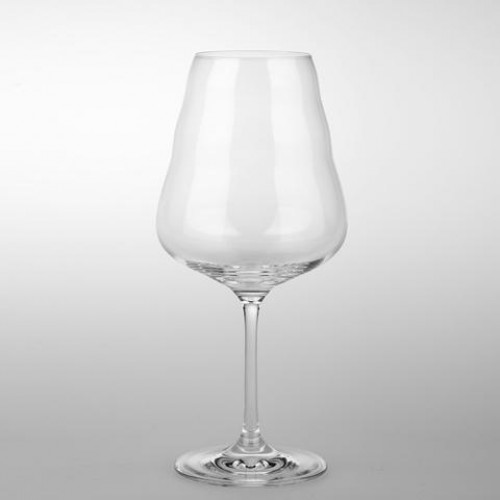 Wine Glass - White (mouth blown)