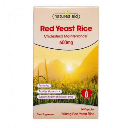 Red Yeast Rice - 600mg 90 Caps (Natural Statins)