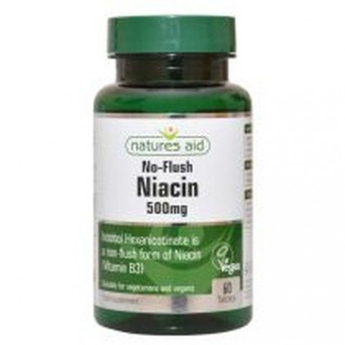 Niacin (No Flush) 500mg Vitamin B3 (60 tablets)