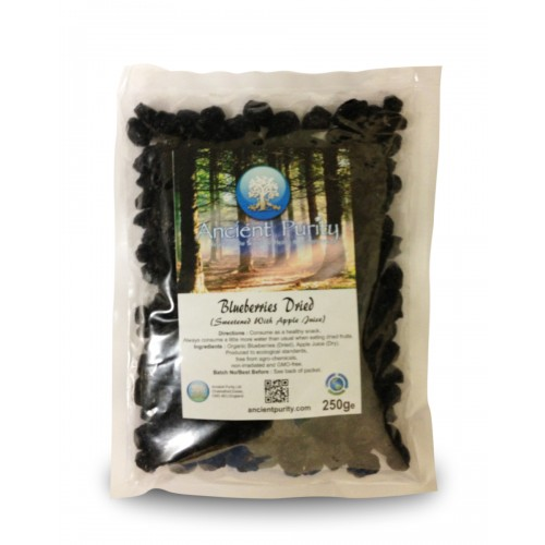Blueberries Dried (Sweetened w/Apple Juice)