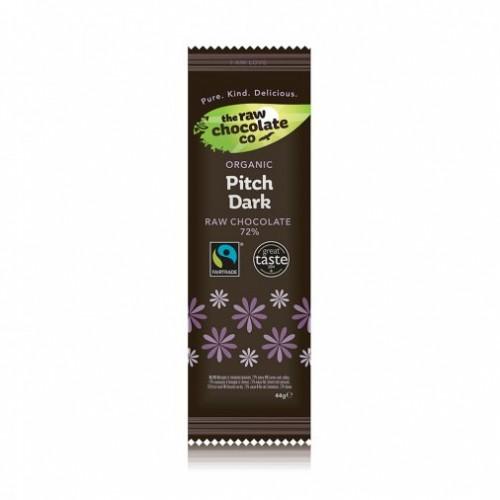 Pitch Dark Raw Chocolate Bar 72% - 44g (Organic)
