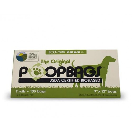 PoopBags (Biobased) - 9 Rolls /135 bags USDA Certified