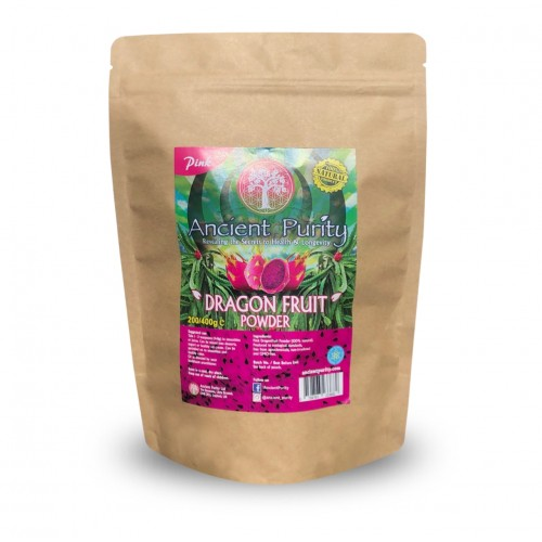 Dragon Fruit Powder (Pink Pitaya) Betalains/Carotenoids/Iron - 200/400g