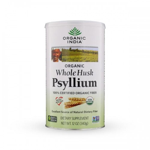 Psyllium Husk Whole (Organic India) 340g - Fibre