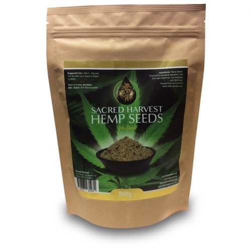 Hemp Seeds (Hulled) Essential Fatty Acids (500g)