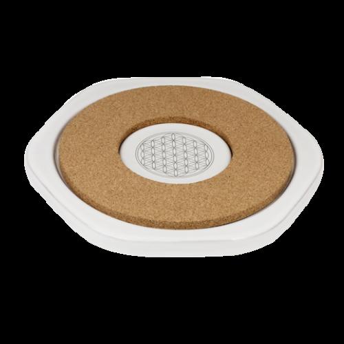 Ceramic Energy Plate (Hot) - 23cm (Flower of Life)