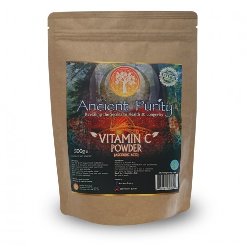 Vitamin C Powder (Ascorbic Acid) GMO-FREE 250/500g