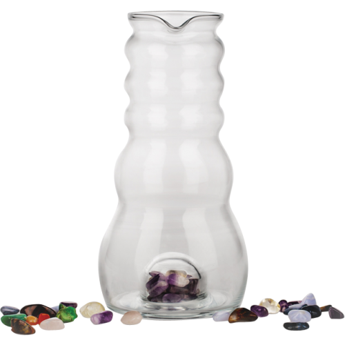 Water Pitcher (with Gemstones) 1 Litre Glass Jug