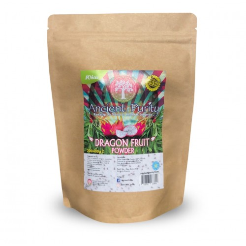 Dragon Fruit Powder (White Pitaya) Betalains/Carotenoids/Iron - 400g