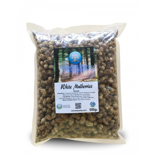 "White Mulberries ""Organic"" - 500g (Dried Super Fruit)"